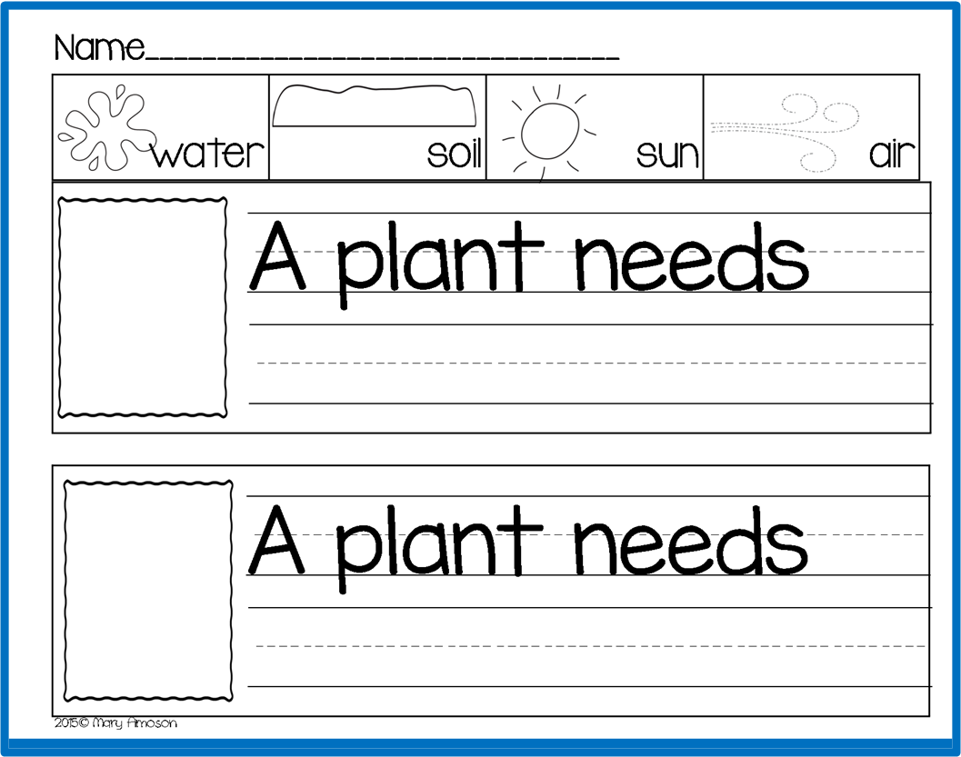 A Plant Needs Free From Sharing Kindergarten Via