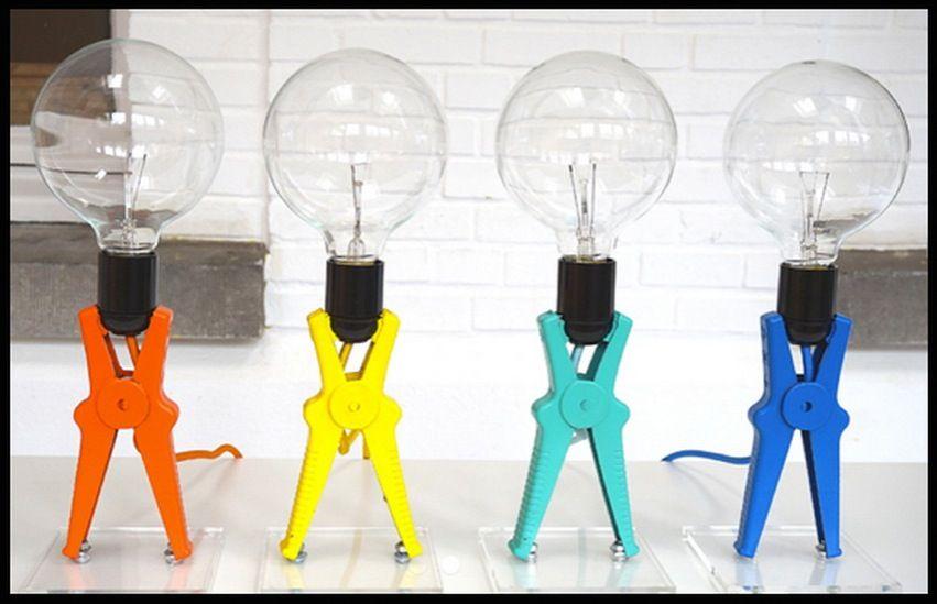Light And Funny Tres Jolie Idee Deco Avec Les Lampes Croco L Idee Lumineuse Est De Lui Avoir Donne La Look D Une Pince De Demarrage De Cable De Vo Style