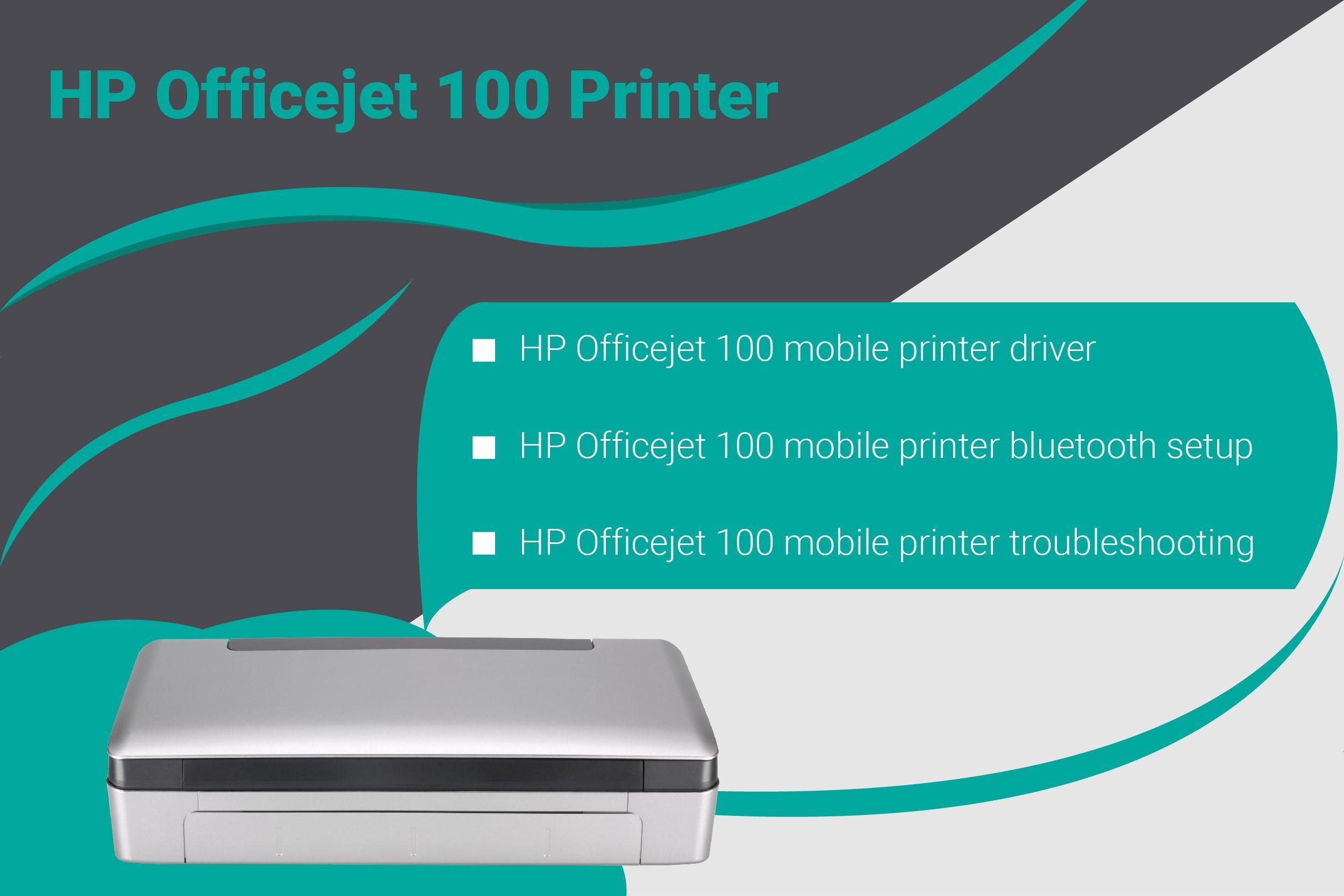 Hp Oficejet 100 Mobile Printer Bluetooth Setup Mobile Printer Wireless Printer Mobile Print