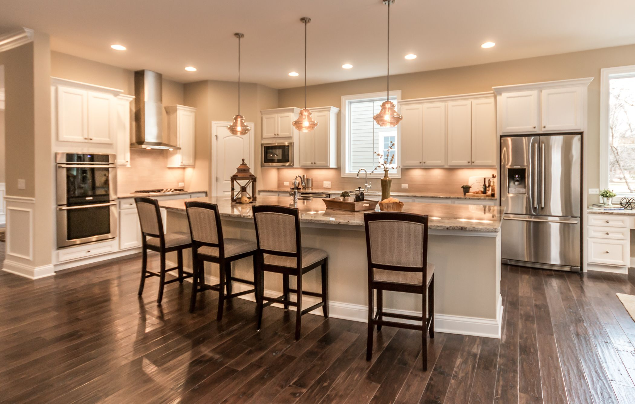 Gorgeous Custom Kitchen Love The White Cabinets See The Full