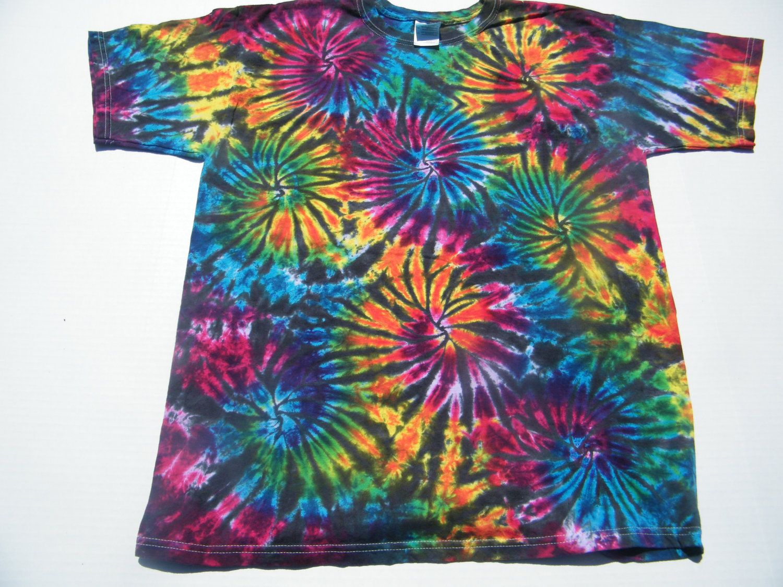f962c872f6fb tie dye XL Black Fireworks Shirt tye dye size by tiedye on Etsy
