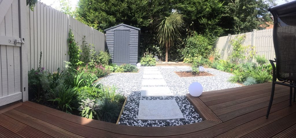 small contemporary garden designed by gdn design   simple clean lines lines and planting