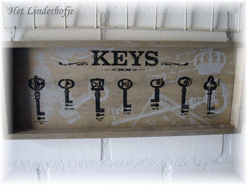 Sleutelrek lang sleutelkastjes woonaccessoires for Woonaccessoires winkel