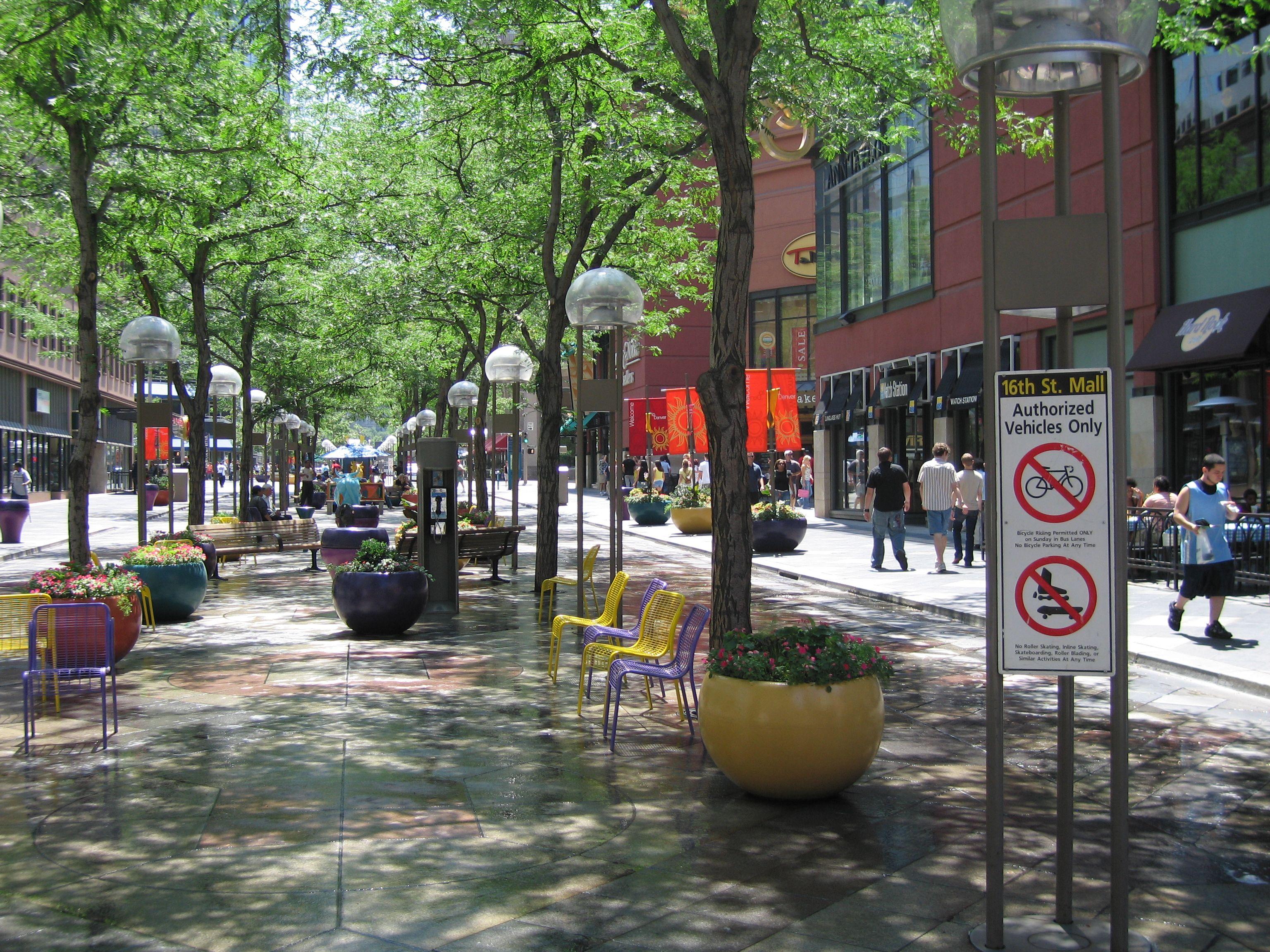 Image Result For Denver 16th Street Mall Landscape Design