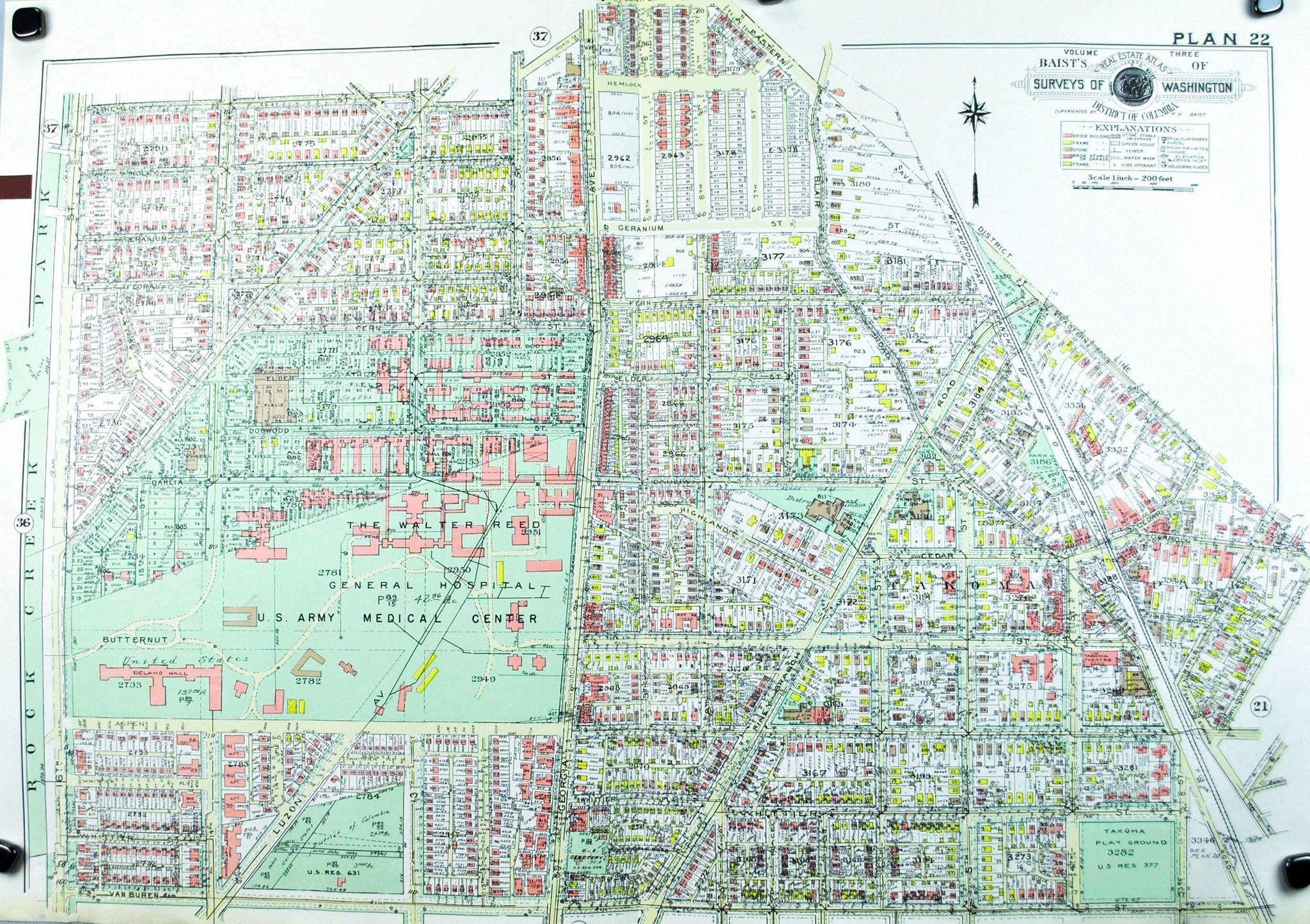 1960 Washington DC Plan 22 Baist