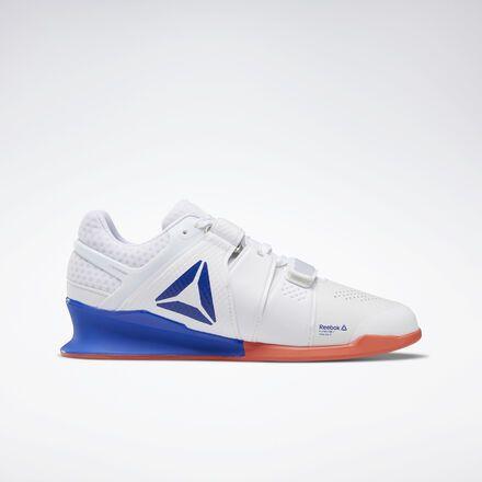 efa81252 Reebok Shoes Men's Legacy Lifter Shoes in White/Cobalt ...