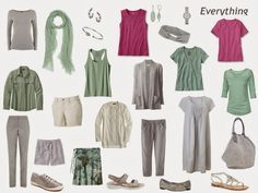 Building a Capsule Wardrobe by Starting with Art: Peripheral Vision 2 by Elis Cooke, or How to Pack for a Casual Vacation in France