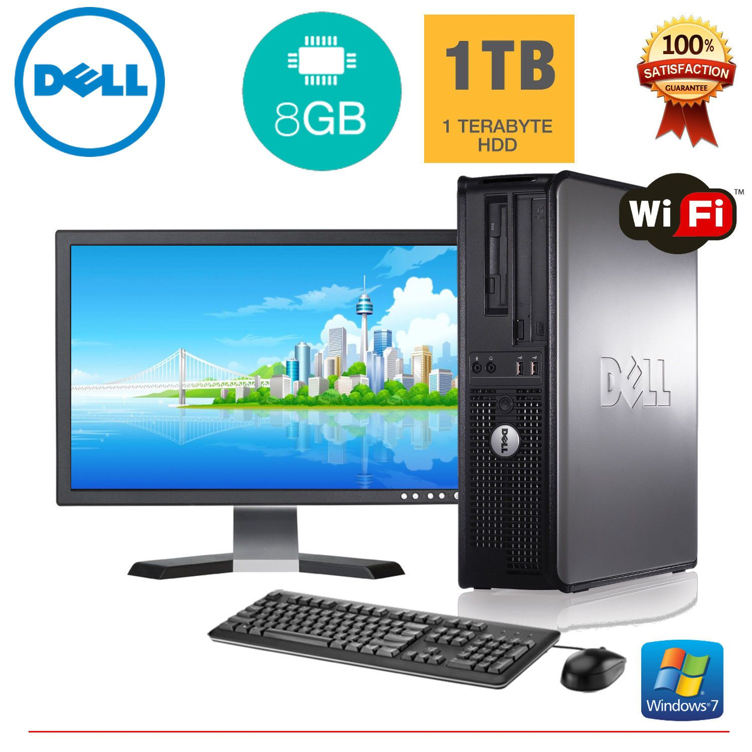 Nice Dell Desktop Pc Computer Windows 7 Core 2 Duo 8gb Ram 1tb Hd 19 Monitor Wifi Check More At Http Harmonispro Computer Dell Desktop Hp Computer Laptops