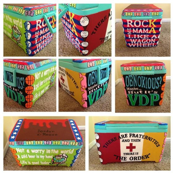 Painted Cooler Corners Fraternity Coolers Cooler Painting Formal Cooler Ideas