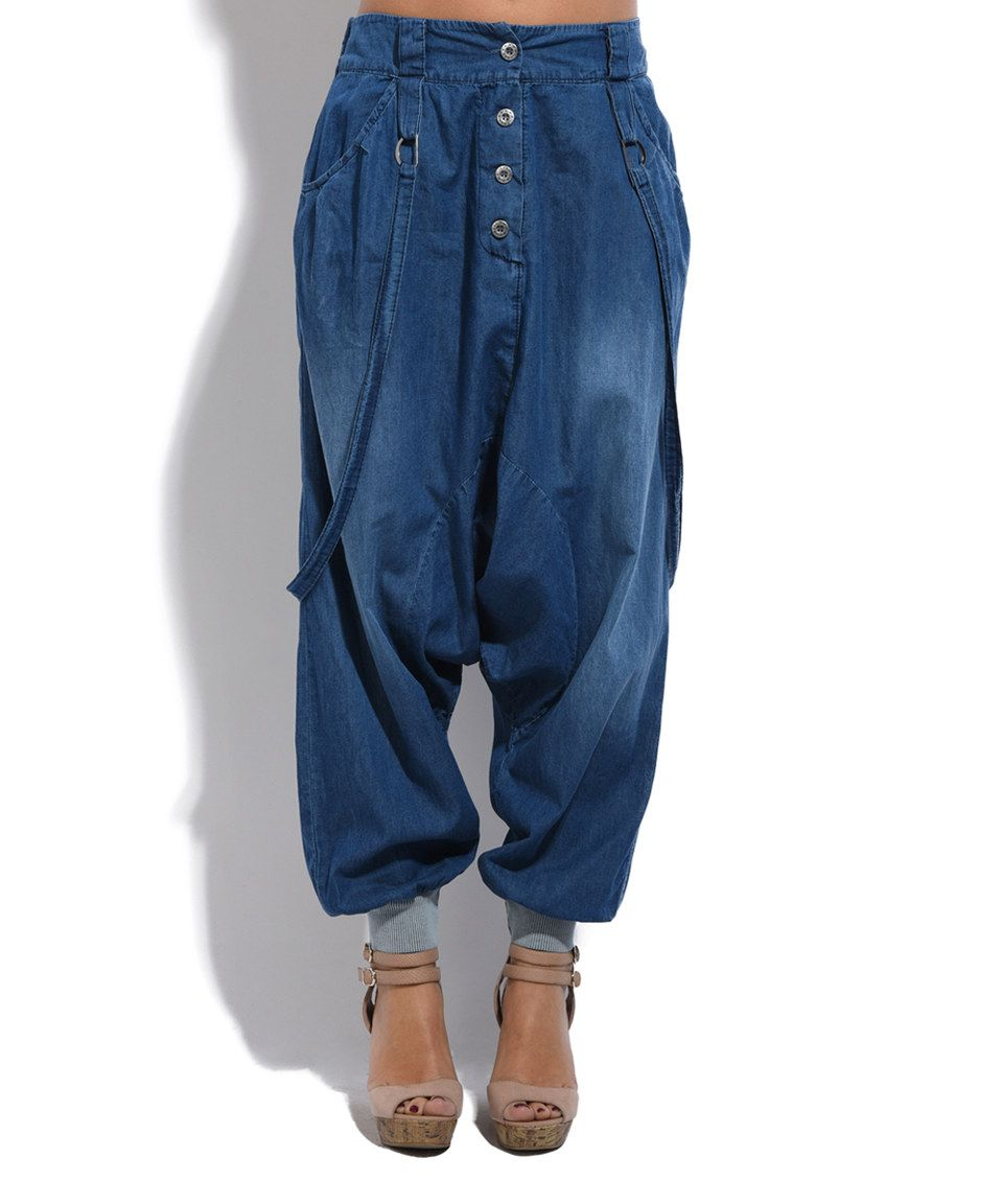 Take a look at this La Fille du Couturier Blue Denim Joggers today ... fe0a37a8b05