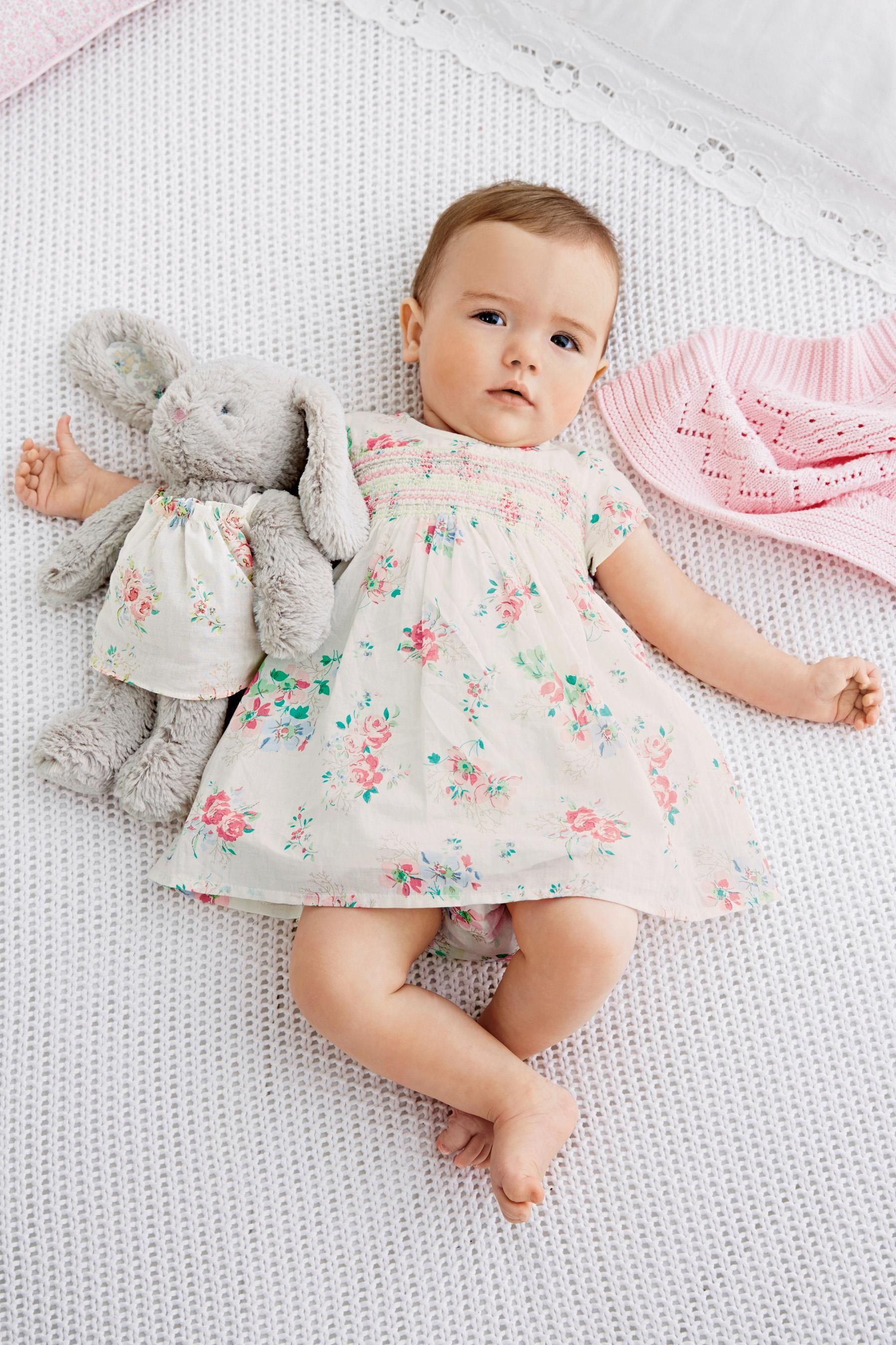 buy ecru floral dress and pants set (0-18mths) online today