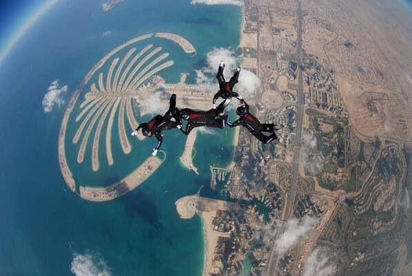 Paracaidismo En Dubai Extreme Sport Skydiving In Dubai