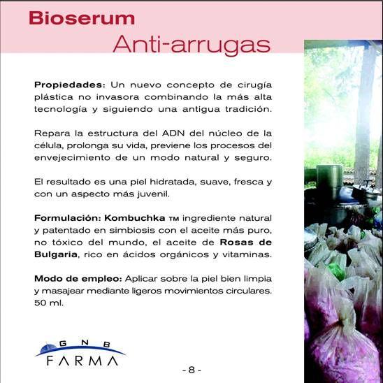 Bioserum antiarrugas descripción