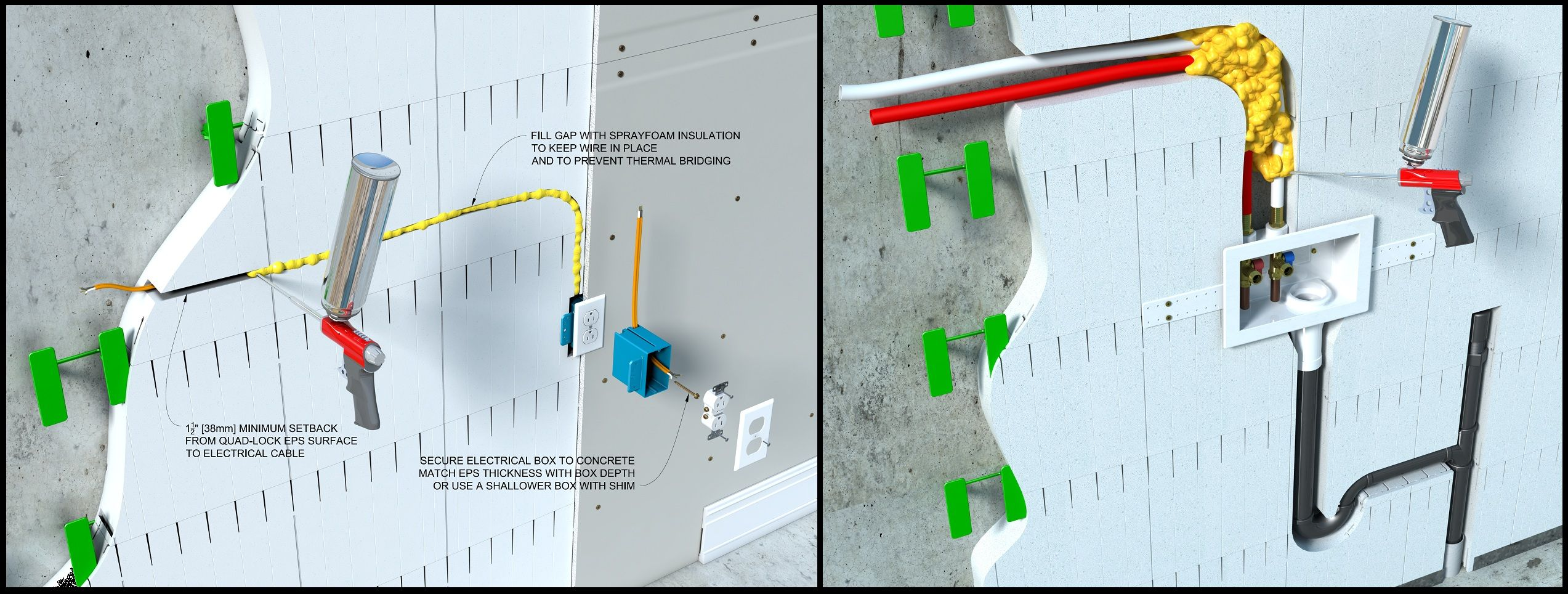 Pin By Mohamad Nahlawi On Icf Pinterest Insulated Concrete Forms Intersection Wiring Diagram Http Quadlockcom Images Drawings
