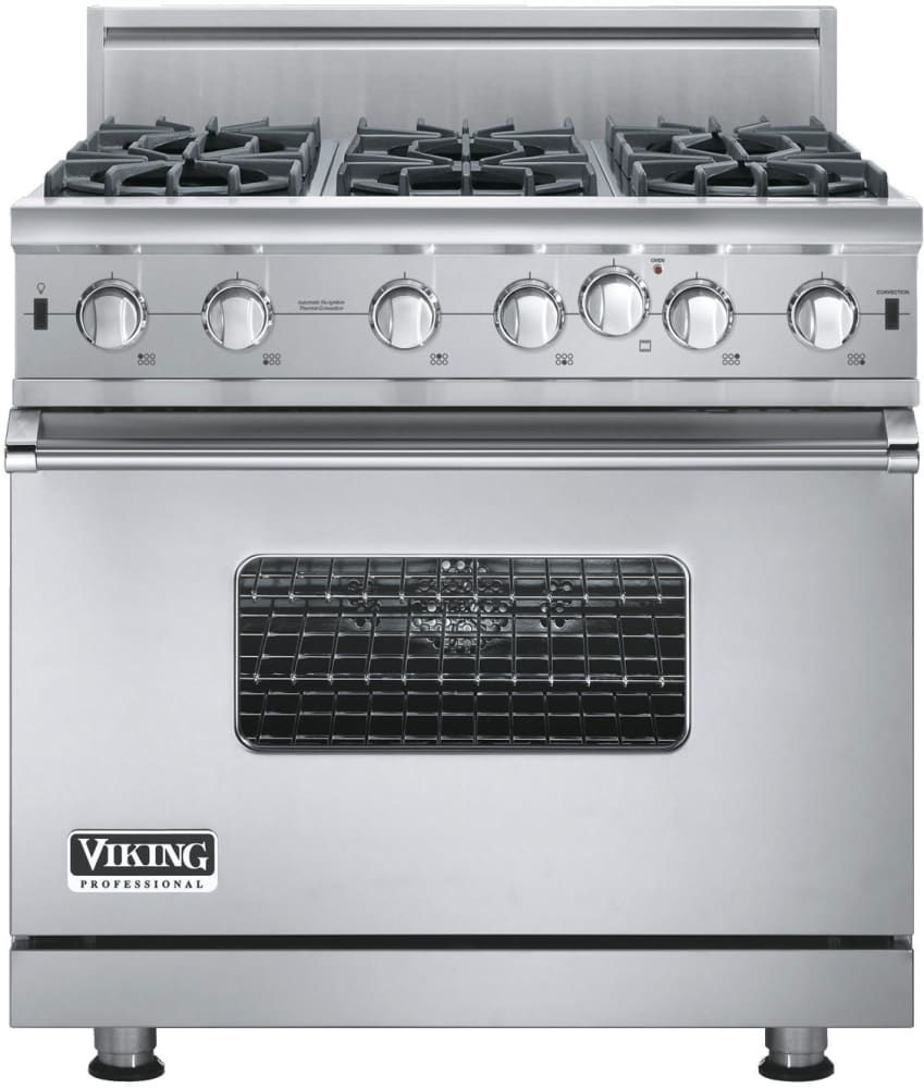 viking gas range. Viking VGIC53616BSS 36 Inch Pro-Style Gas Range With Convection, Infrared Broiler, VariSimmer N