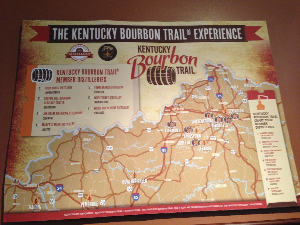Kentucky bourbon trail map google search whiskey for Ky bourbon trail craft tour map