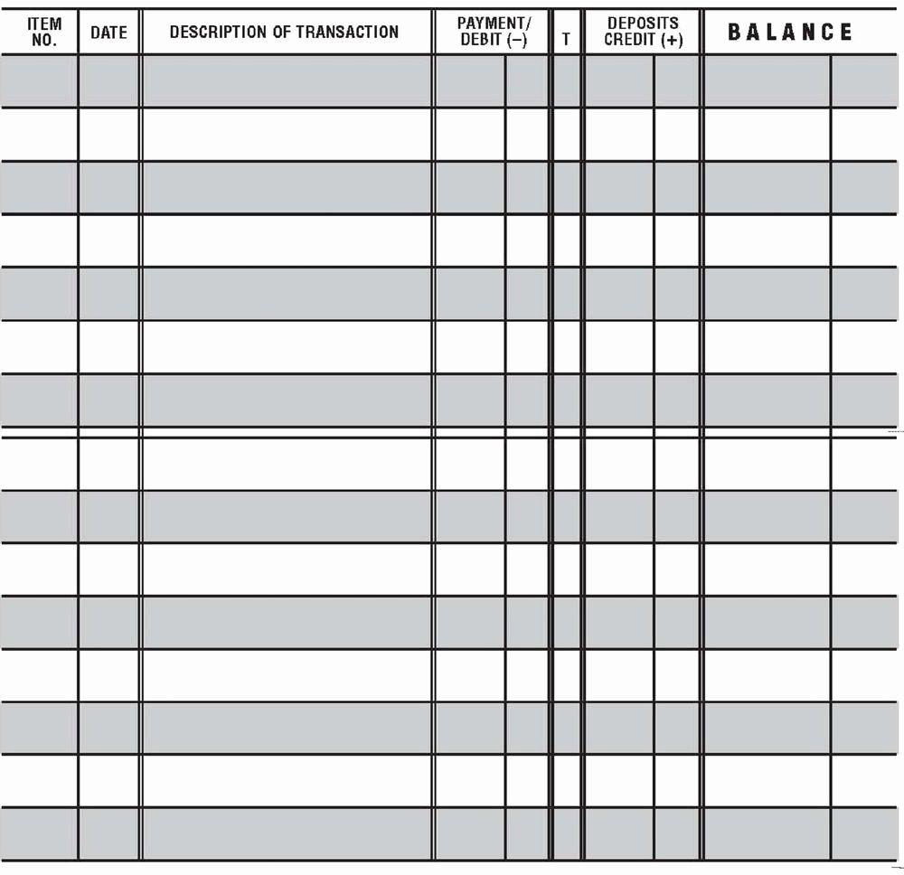 Checkbook Register Worksheet 1 Answers New 20 Easy To Read Checkbook Transaction Register Large Print In 2020 Check Register Checkbook Register Printable Checks