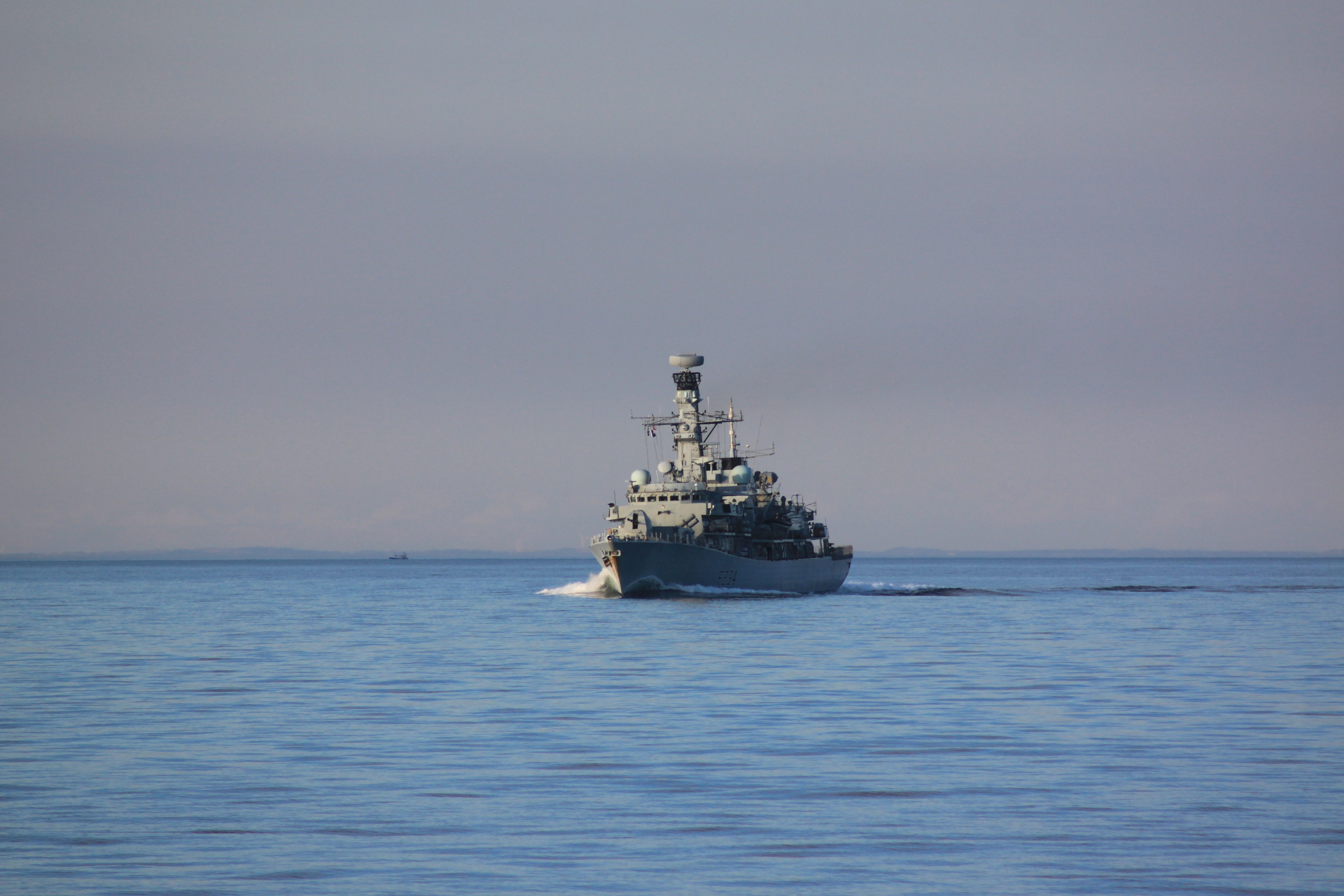 HMS Iron Duke closing fast