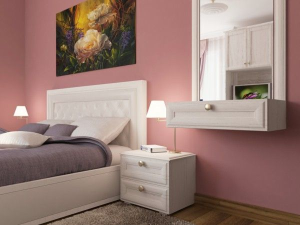 Pink Wall Paint dusky pink headboard white wall paint colours walls | dorm, youth