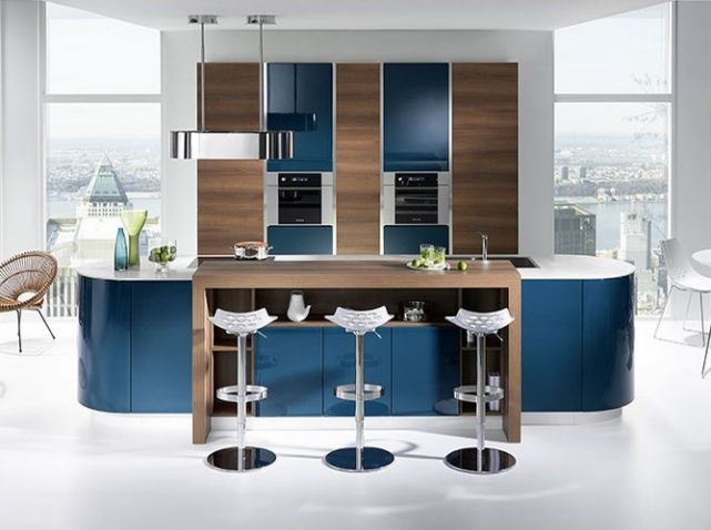 cuisine bleue bois blanche mobalpa cuisine kitchen pinterest mobalpa bois blanc et. Black Bedroom Furniture Sets. Home Design Ideas