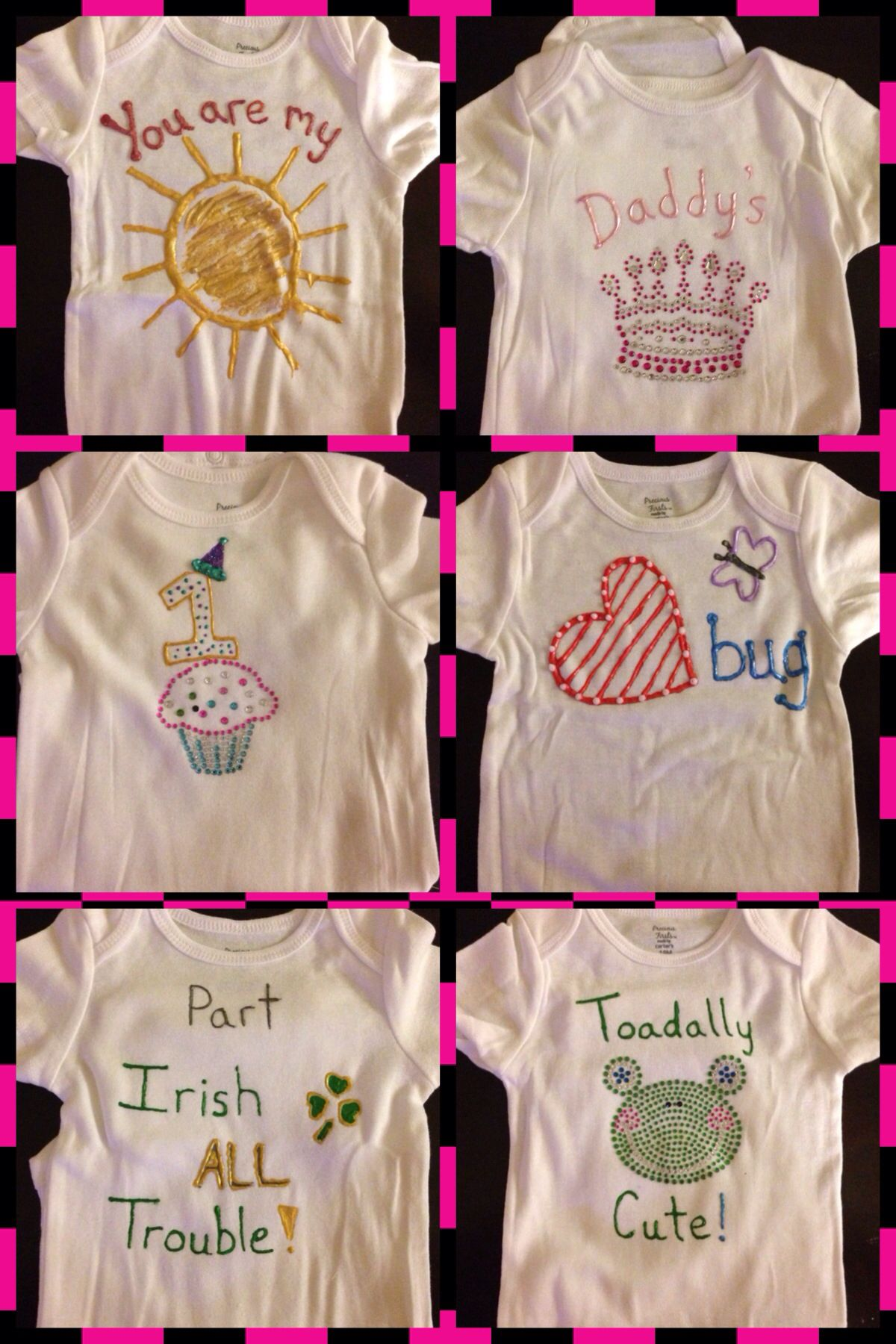 6a0f930c6 Puff paint onesies, made by me! | All things baby/toddler! | Onesie ...