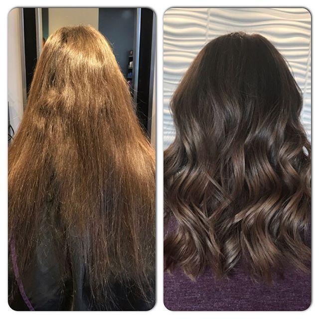 Big Transformation Done By Tina Vibrantsalon Redkensalon Bob Shorthair Freshcolour Redkencolour Best Hair Salon Laser Hair Removal Hair Transformation