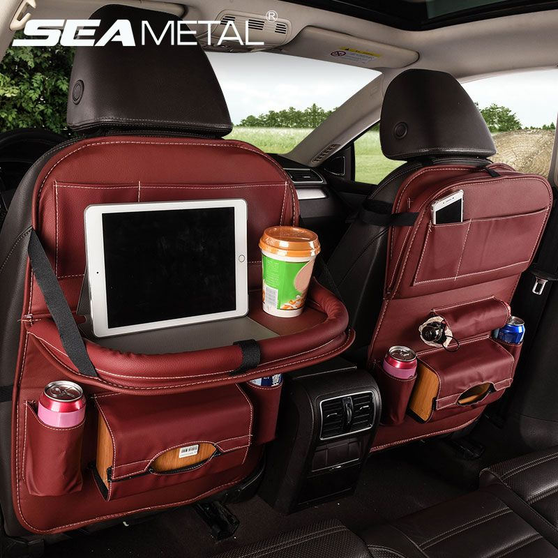 Seat Back Organizer with Table Tray SEAMETAL Car Seat Protector Organizer Backseat