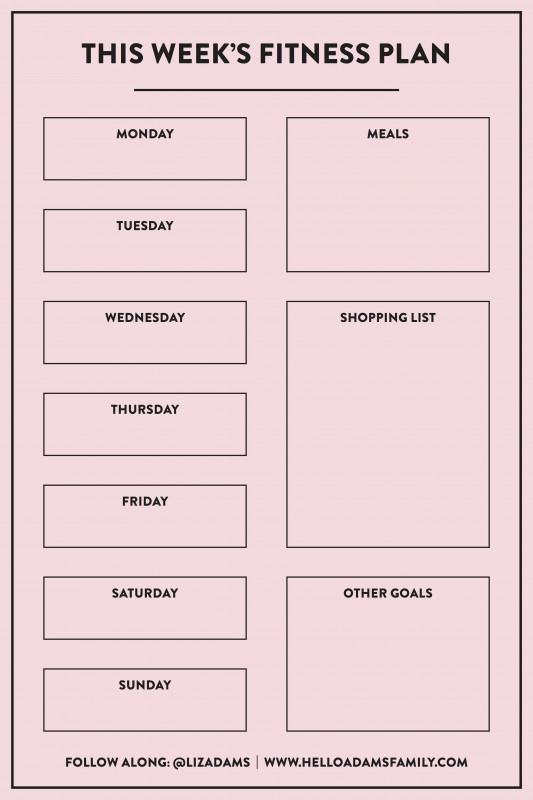 Blank Workout Schedule Template New Weekly Workout Meal Plan Hello Adams Family Workout Plan Template Workout Meal Plan Workout Schedule