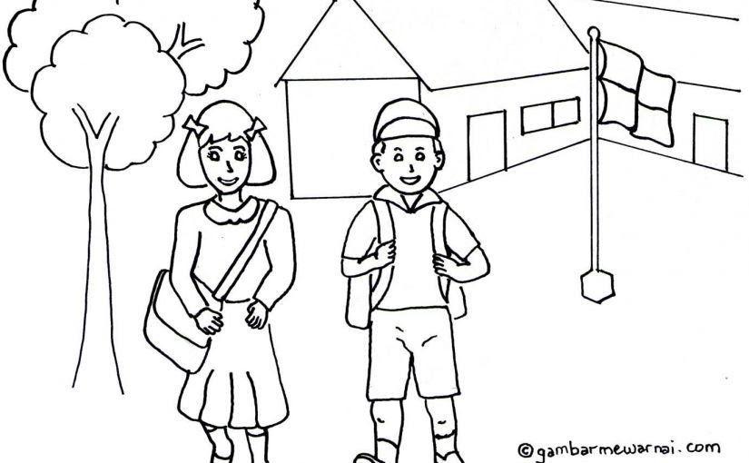 32 Gambar Sekolah Kartun Untuk Diwarnai Mewarnai Gambar Mewarnai Gambar Sekolah Tk Kartun Download Gambar Mobil Kartun Mewarnai Kumpu Di 2020 Kartun Animasi Warna