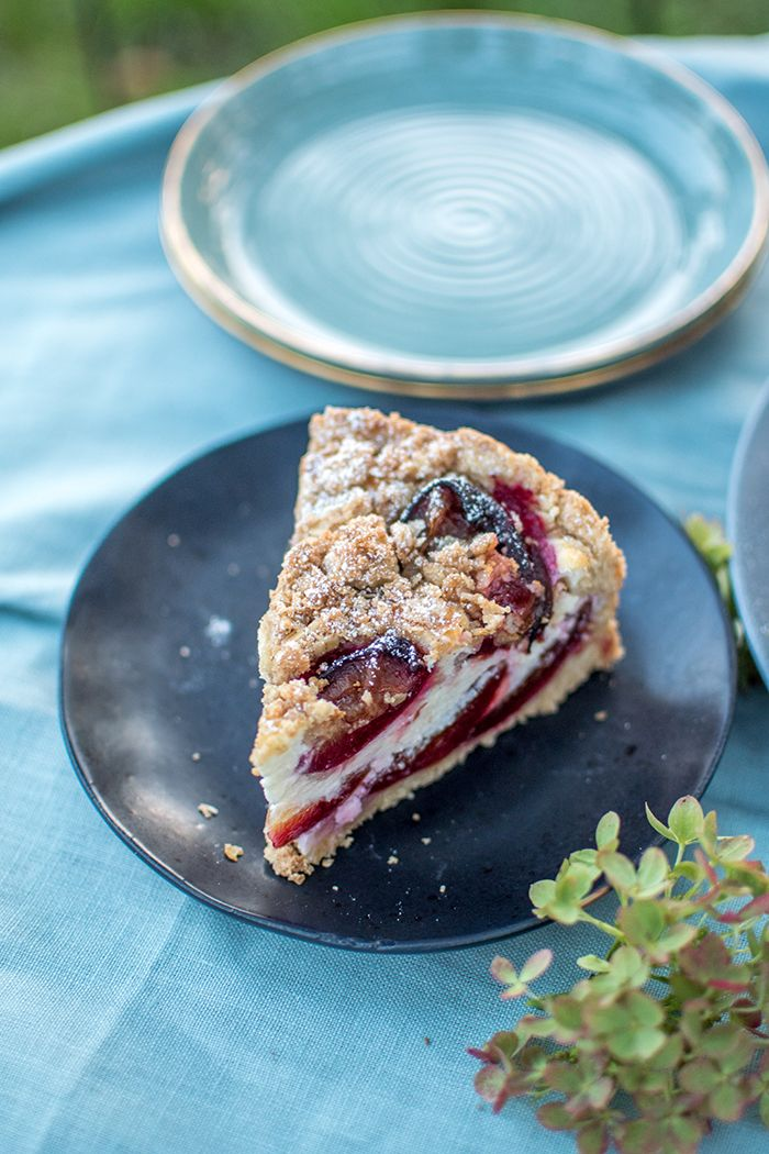Photo of Plum cake with curd cheese and sprinkles: Hello late summer ⋆ Crunchy room