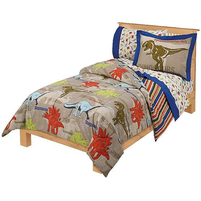 Dinosaur Age Twin Size Bedding Ensemble