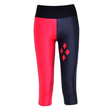 8cc3674c1d0a84 Harley Quinn Capri Gym Leggings | Geek la Chic | Geek Clothing Challenging  the Boring.