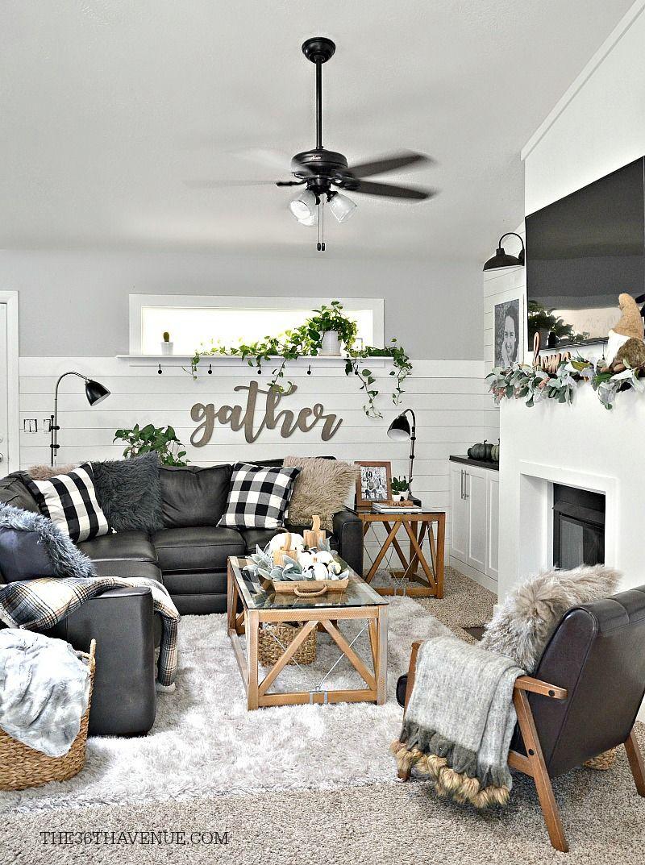 Living Room Farmhouse Decor Ideas | Modern farmhouse ...