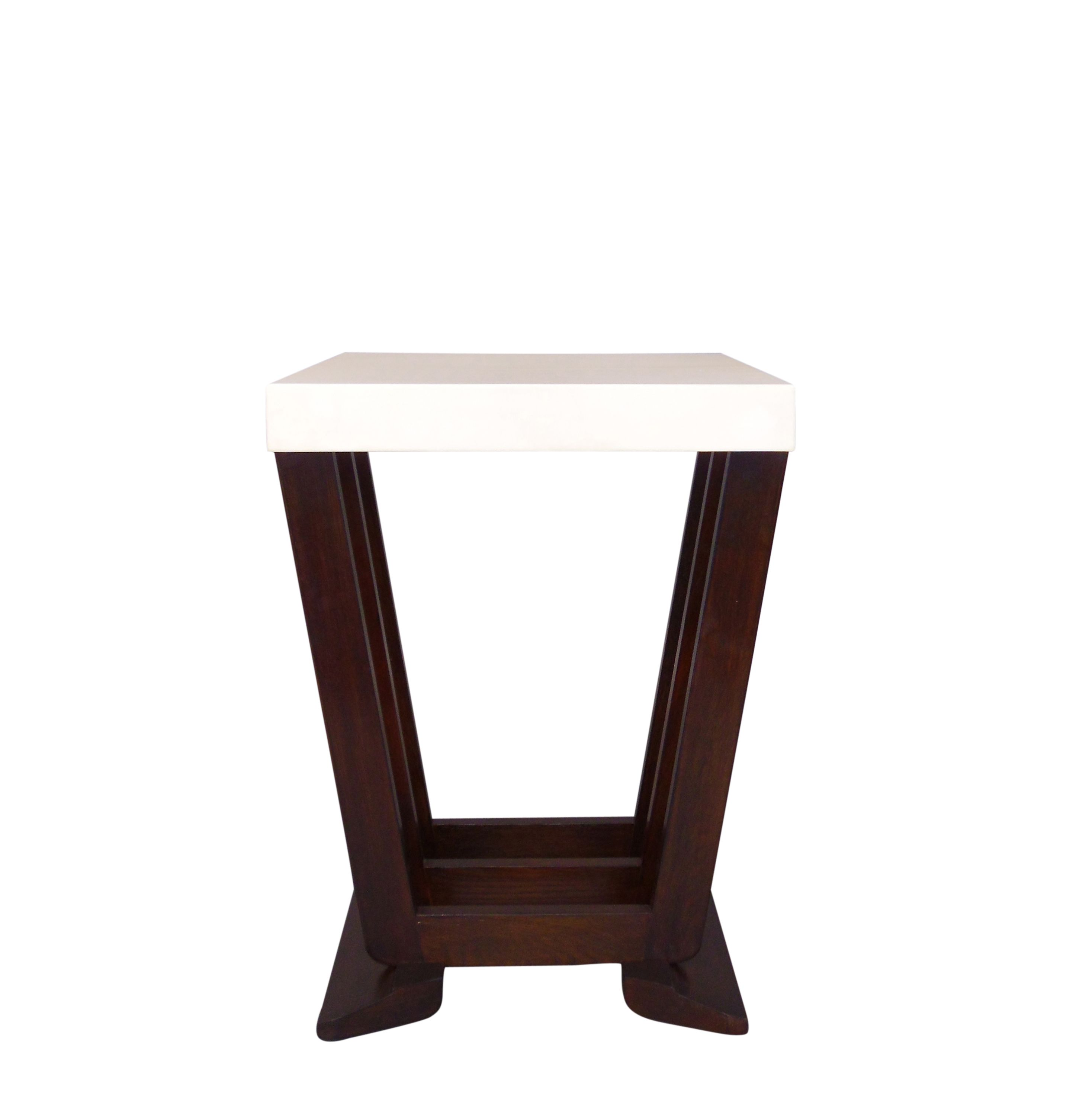 Modern wood side table  Buy Rive Gauche Side Table by Foley u Cox  MadetoOrder designer