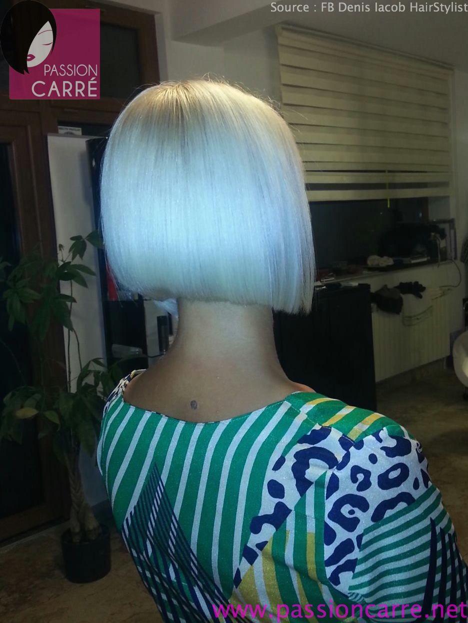 Sublime carré plongeant asymétrique platine - Passion Carré | Long to short hair, New hair look ...