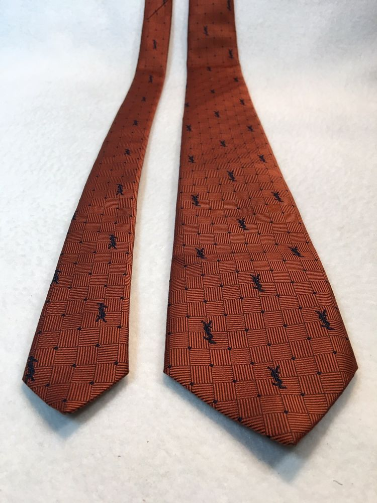 363df017c8cb Vintage YSL Yves Saint Laurent Rust Colored Monogram Mens Necktie #fashion  #clothing #shoes #accessories #mensaccessories #ties (ebay link)