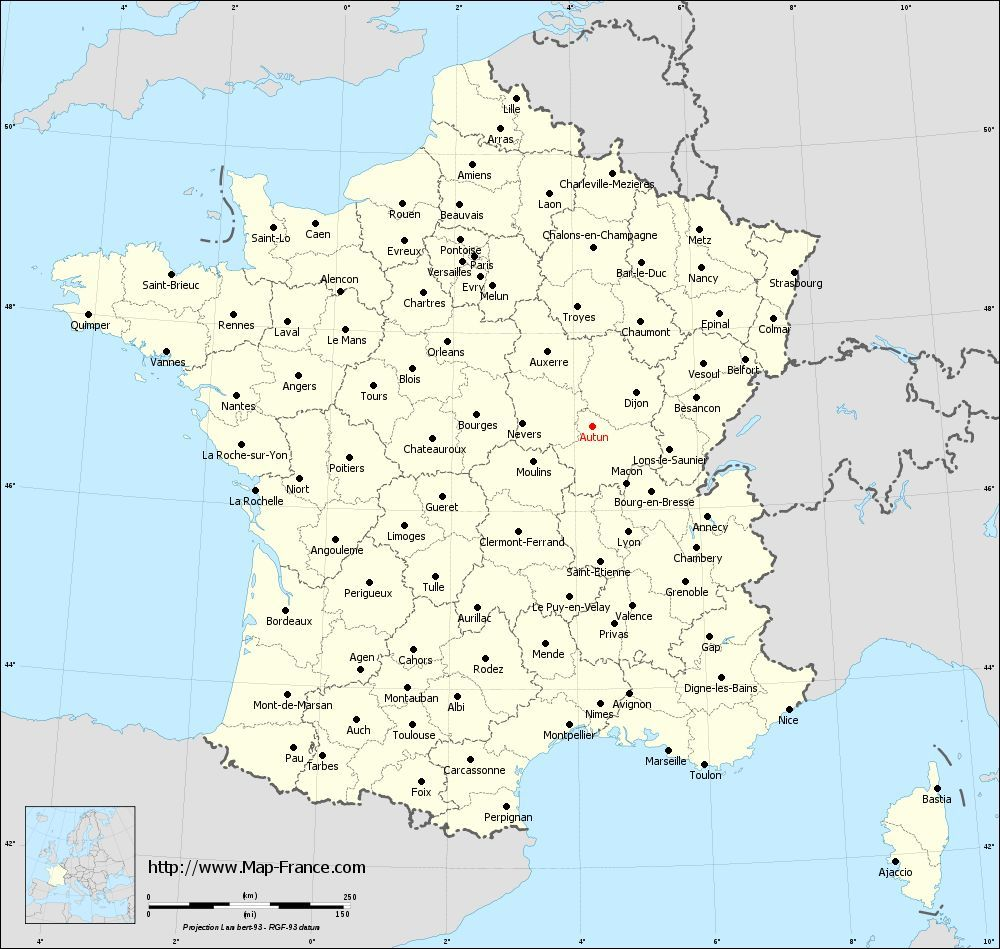 administrativefrancemapdepartementsAutunjpg 1000949 Cartes