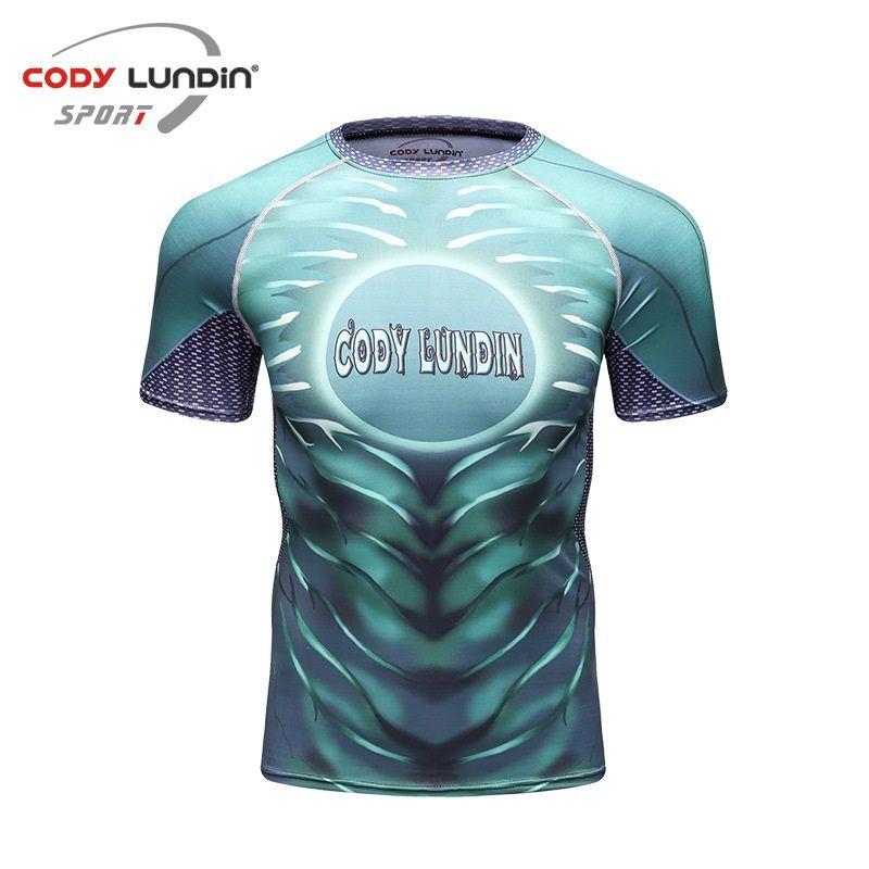 Cody Lundin T Shirt Compression MMA Fitness UFC Fight Men