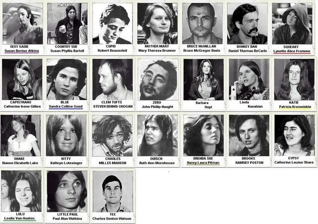 Charles Manson and The Family on Pinterest | Charles Manson, Sharon ...