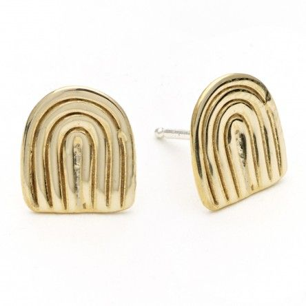 Agnes Earrings: Brass