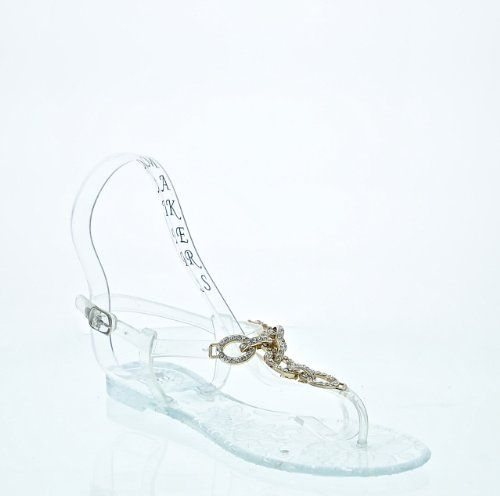 Jelly Flat Sandals with Chain Embellishment (5, clear) Makers Shoes http://www.amazon.com/dp/B00IWYXLCU/ref=cm_sw_r_pi_dp_jooqvb01WTV7C