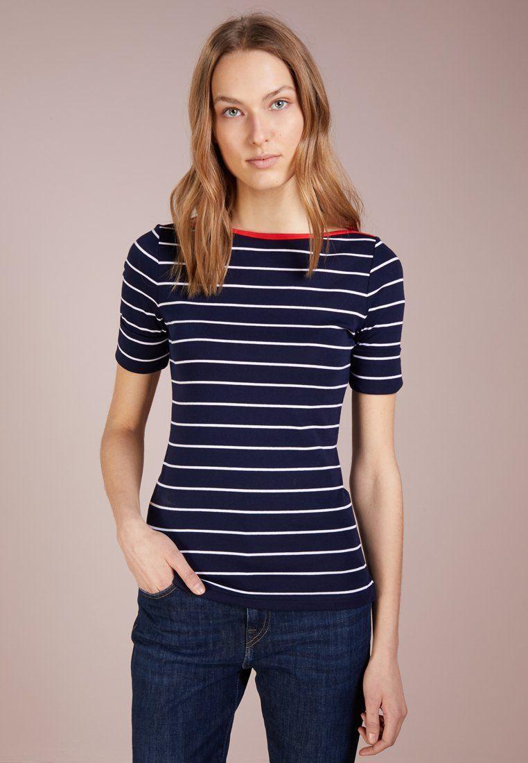 e36d0b39b812 Lauren Ralph Lauren T-shirt con stampa - navy white - Zalando.it