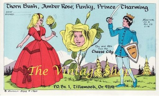 Thorn Bush and Prince Charming .. Runnin Bare QSL Radio Trade Card 1960