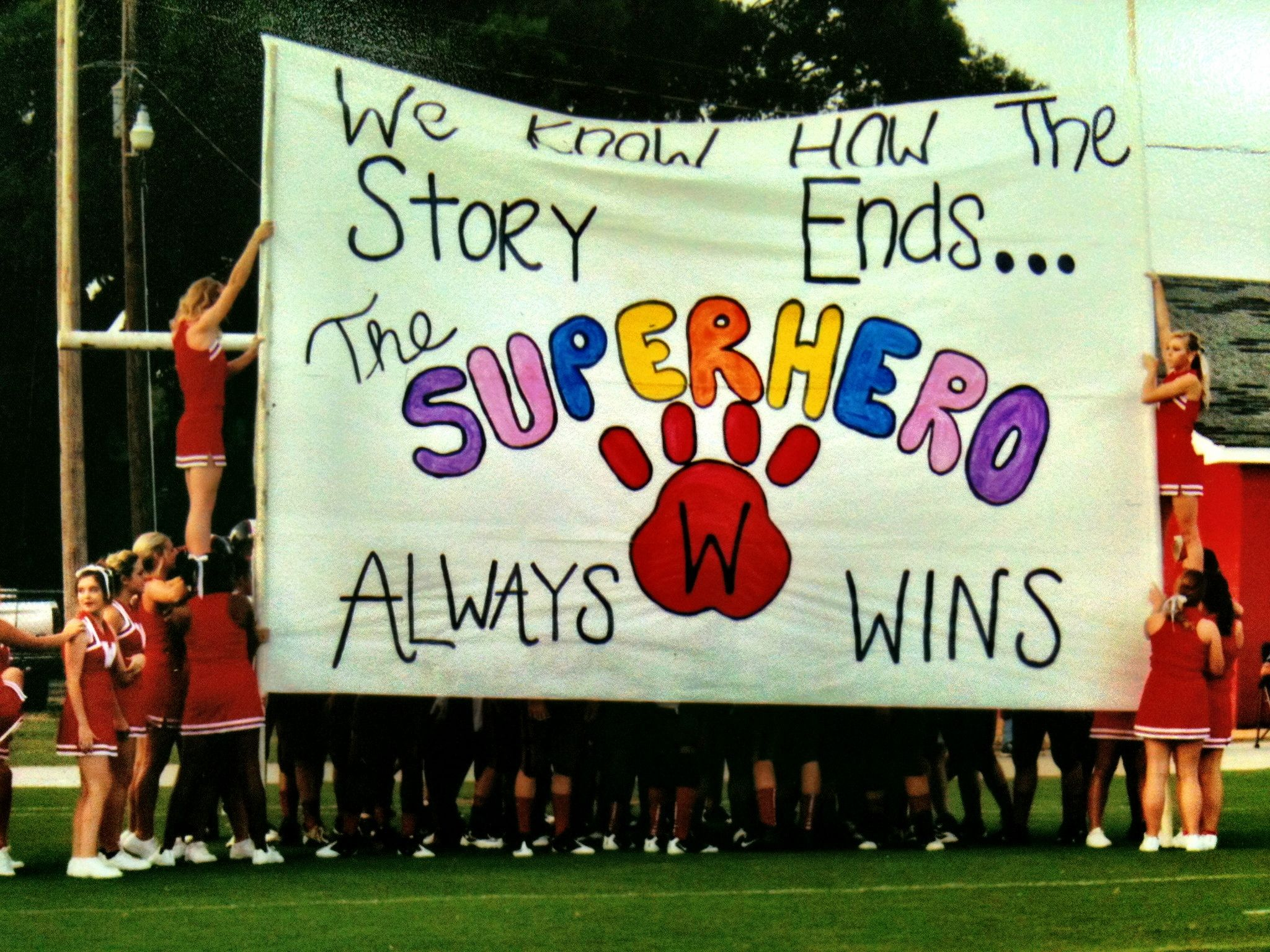 football run through sign  walnut wildcats we know how the story