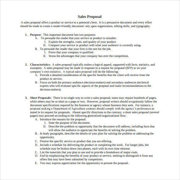 Sale Proposal Letter Elegant 19 Sample Sales Proposal