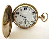 14K Goldfill BURLINGTON Pocket Watch,Hunter Case,16S,21J,DoubleRoller,Adj2,RUN!