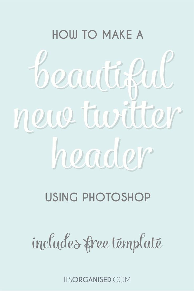 How to Make a Twitter Header with Photoshop | Header, Template and ...