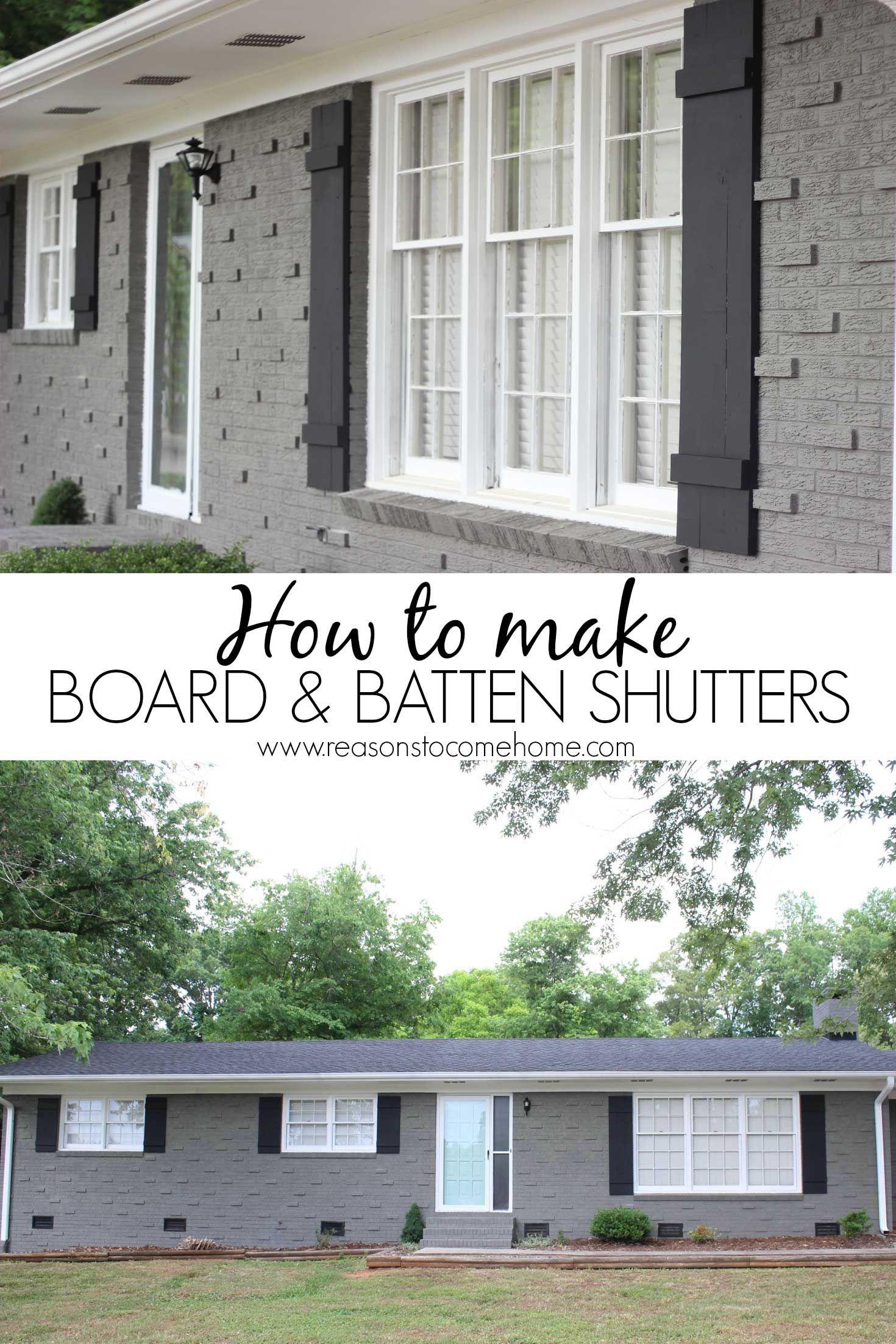 Diy Board And Batten Shutters Crafts Diy Repurposing Board Batten Shutters Diy Shutters Home