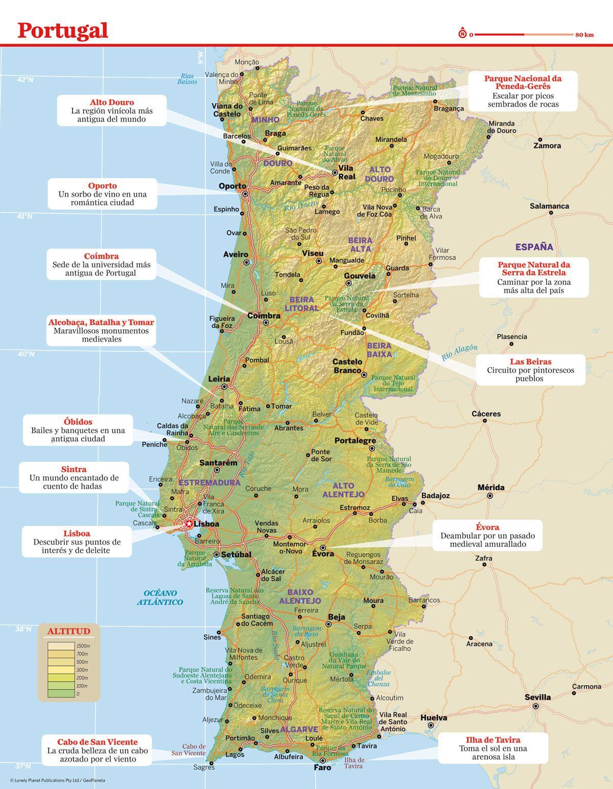 Mapa De Portugal Viajes Viajes Exoticos