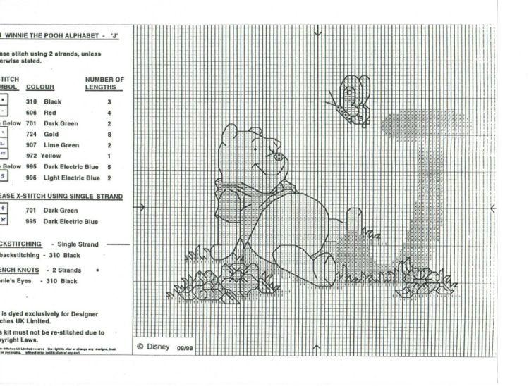 Winnie the Pooh Alphabet - J | Point de croix | Pinterest ...